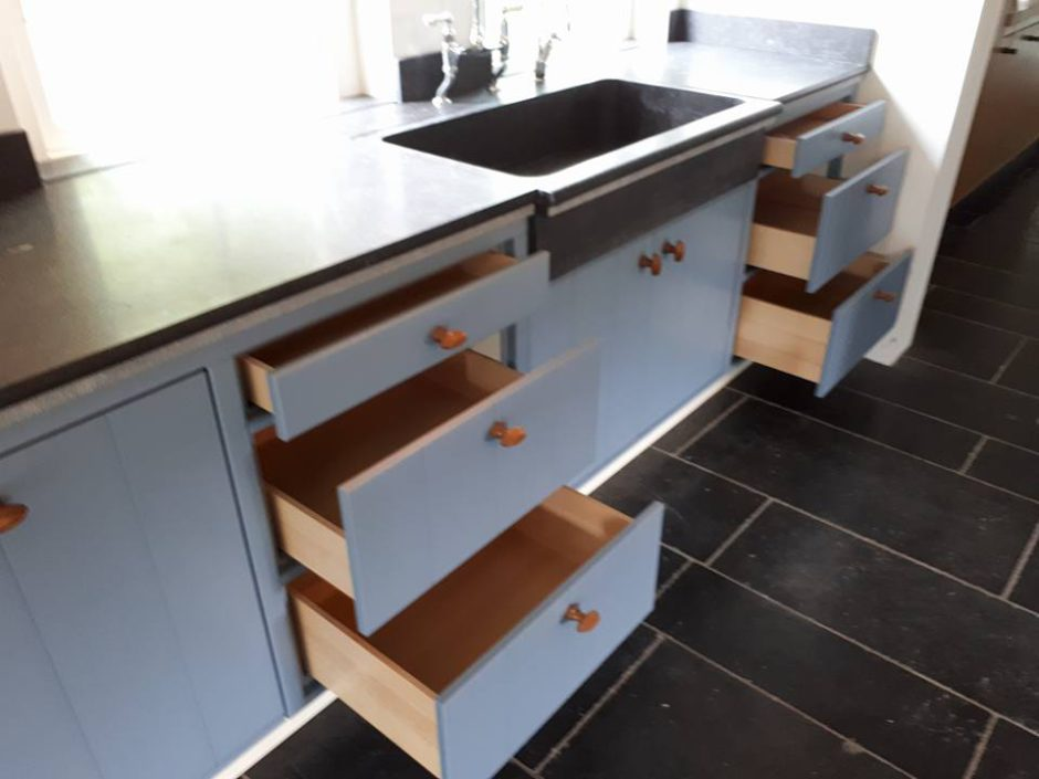 Maatwerk Keukens Essen hout Beligsch hardsteen6