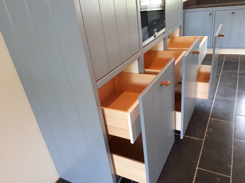 Maatwerk Keukens Essen hout Beligsch hardsteen9